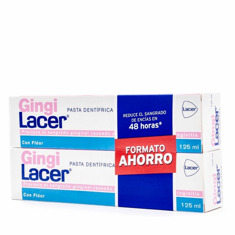Pasta dentífrica Gingi Lacer Protección Aplicación Salud Bienestar Limpieza Dental Bucal