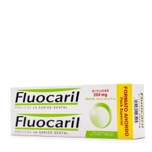 Pasta dentífrica Fluocaril Anticaries Protección Aplicación Salud Bienestar Limpieza Dental Bucal
