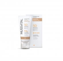 Protector Solar Piel Sensible Normal Mixta Mussvital 50ml SPF Muy Alta 50+ Sol