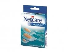 Nexcare Aqua 360° Tiras 14 unidades Surtido Impermeable al Agua y Bacterias