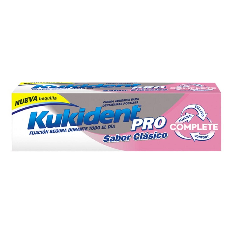 Crema adhesiva para prótesis dentales Protección Natural Salud Kukident 47g
