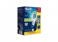 Pack de Iniciación Cepillo Eléctrico Oral B Pro 600 + Recambios Cross Action