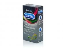 12 x Preservativos Durex Placer Prolongado Con Lubricante Más Duradero Sexo