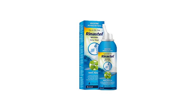 Agua De Mar Xilitol Spray Nasal 100 ml. Rinastel 100% Natural Limpia Previene