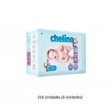 216 x Pañales Chelino Talla 3 Desde 4 - 10 Kilos Limpieza Cambio Bebes Niños