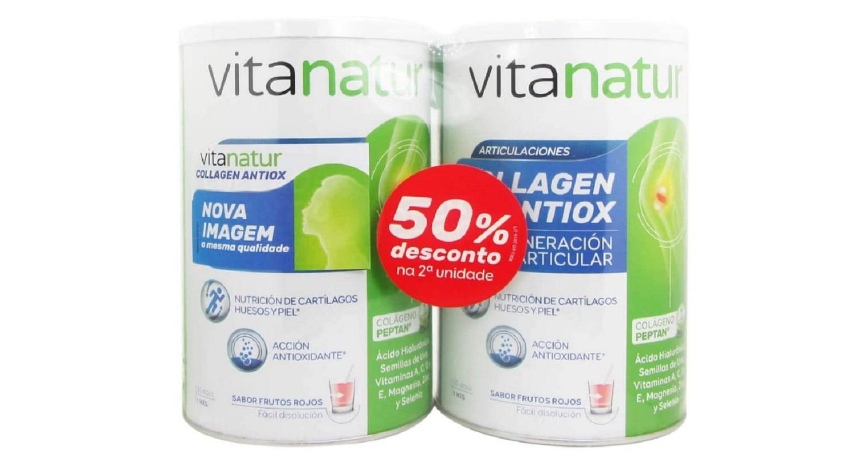 Pack Duplo Vitanatur Collagen Antiox Plus Regenerador Antioxidantes Piel Huesos