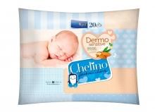 20 x Toallitas Húmedas Chelino Dermo Sensitive Limpieza y Cuidado Viaje Higiene