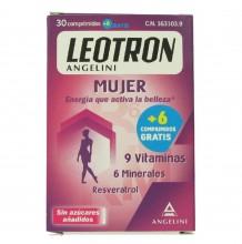 Leotron Mujer 36 Comprimidos Energía que activa la belleza Vitaminas Sin Azucar