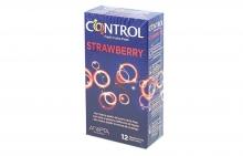 12 Preservativos Control Strawberry Aroma Fresas Condones Relacion Sexo Salud