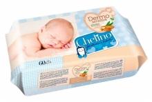 60 x Toallitas Húmedas Chelino Dermo Sensitive Limpieza y Cuidado Viaje Higiene
