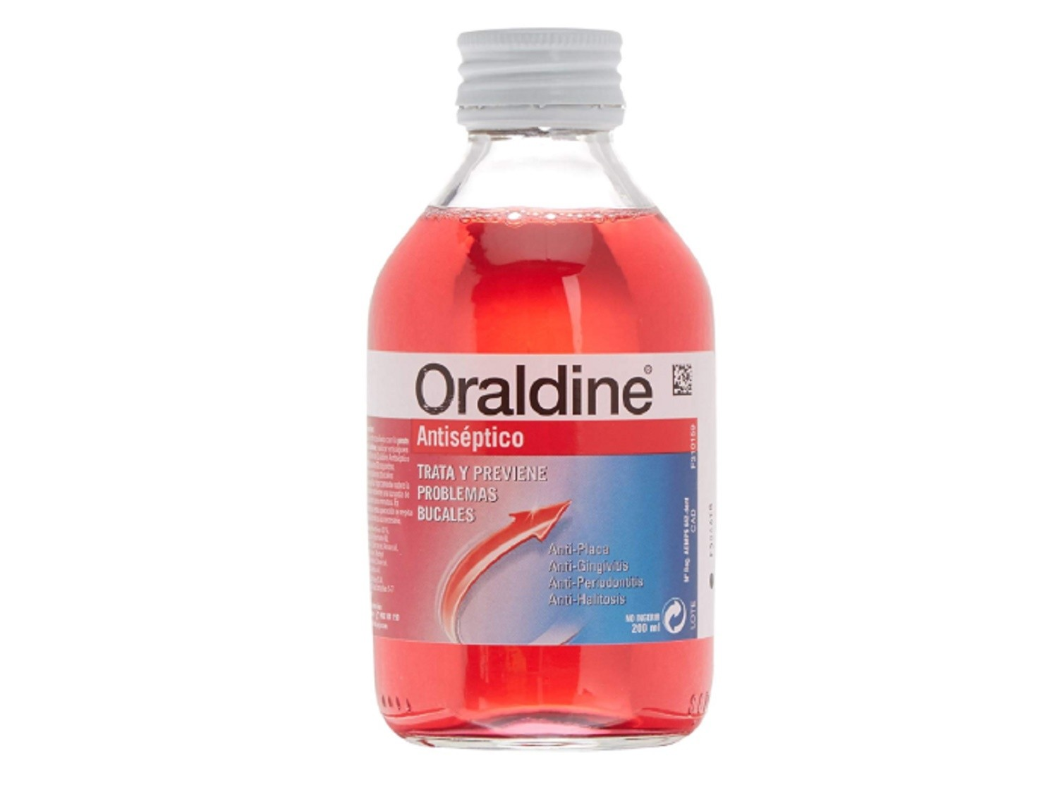 Oraldine Antiséptico 200 ml. Anti-placa Anti-gingivitis Salud Bucal Dental