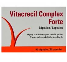 Vitacrecil Complex Forte 90 Capsulas Vigor Crecimientos Para el Cabello Uñas