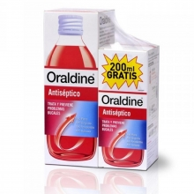 Pack Oraldine Antiséptico 400 + 200 ml. Anti-placa Anti-gingivitis Salud Bucal