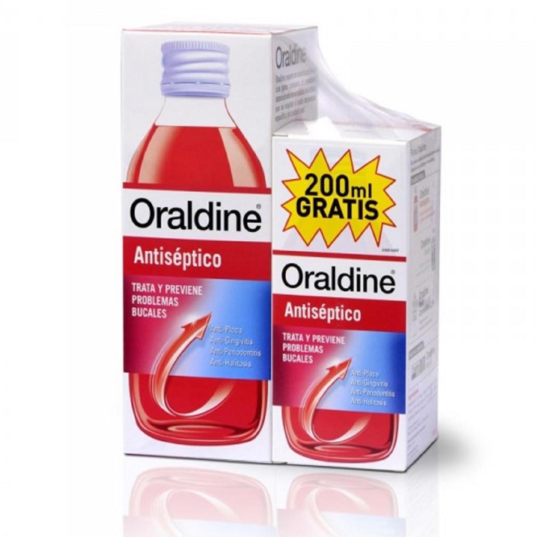Pack Oraldine Antiséptico 400 + 200 ml. Anti-placa Anti-gingivitis Salud Bucal