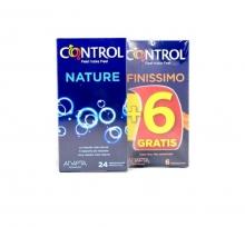 Pack de Preservativos 24 Control Nature + 6 Control Finissimo Relaciones Sexo