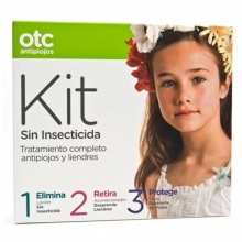 OTC KIT Sin Insecticida Tratamiento Completo Antipiojos y Liendres  Salud Bienestar Cuidados