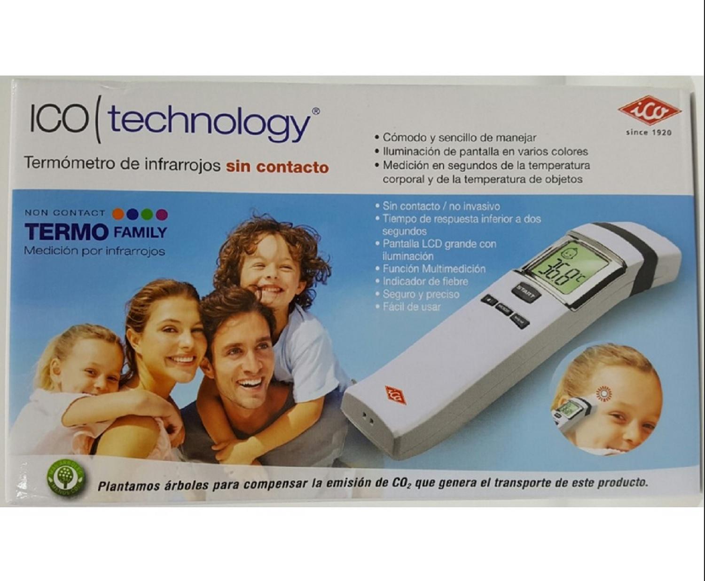 Termometro De Infrarrojos Sin Contacto Ico Technology Pantalla LCD Medicion