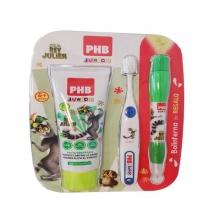 Pack con pasta dentrífica + cepillo manual + bolinterna Junior Active Protección Natural Salud Bienestar Dental