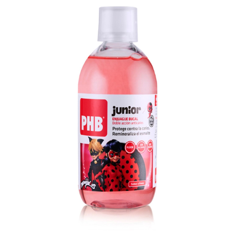 Enjuague Bucal Junior +6 Años PHB Doble Acción Anticaries Sabor Fresa Bienestar Cuidados
