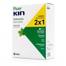 Enjuague Bucal Anticaries con flúor Protección Natural Salud Bienestar Dental Kin
