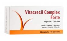 Vitacrecil Complex Forte 60 Capsulas Vigor Crecimientos Para el Cabello Uñas