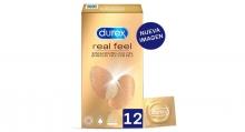12 Preservativos Durex Real Feel Sensacion Piel Con Piel Condones Sexo Salud