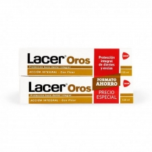 Pack Pasta Dental Intregral Lacer Oros 2x125ml Proteccion Bocal Boca Accion