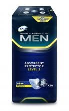 20 x Pañales Tena Men Level 2 Absorbente Protector Pérdida de Orina Higiene