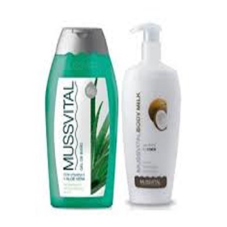 Pack Crema Bodymilk y Gel Con Aloe Vera Precio Especial Mussvital Salud