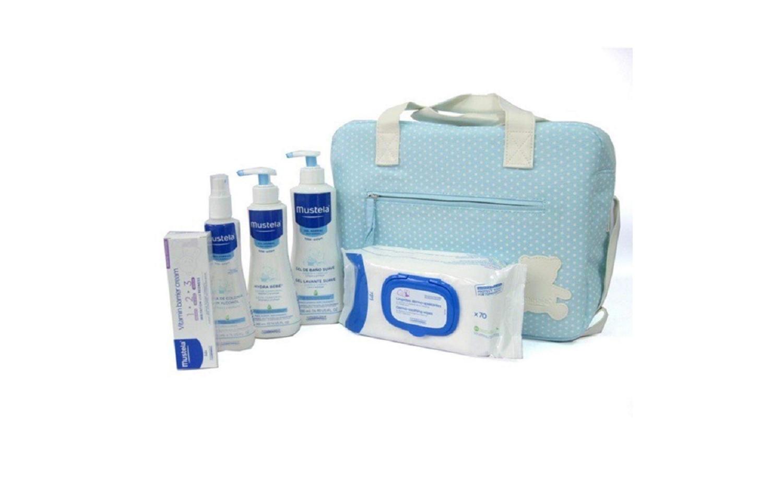 Bolso Mustela Mis Primeros Productos Azul Recién Nacido Bebes Niños Niñas Regalo