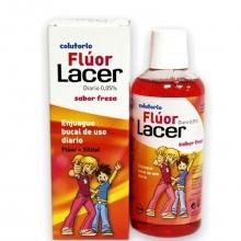 Enjuague Bucal Diario Colutorio Lacer 0,05% Con Fluor Sabor Fresa 500ML Salud Cuidados