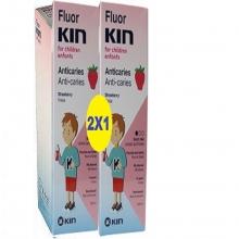 Fluor KIN Infantil Anticaries Fresa Morango 2x1 Uso Diario Salud Cuidados Bienestar Dental