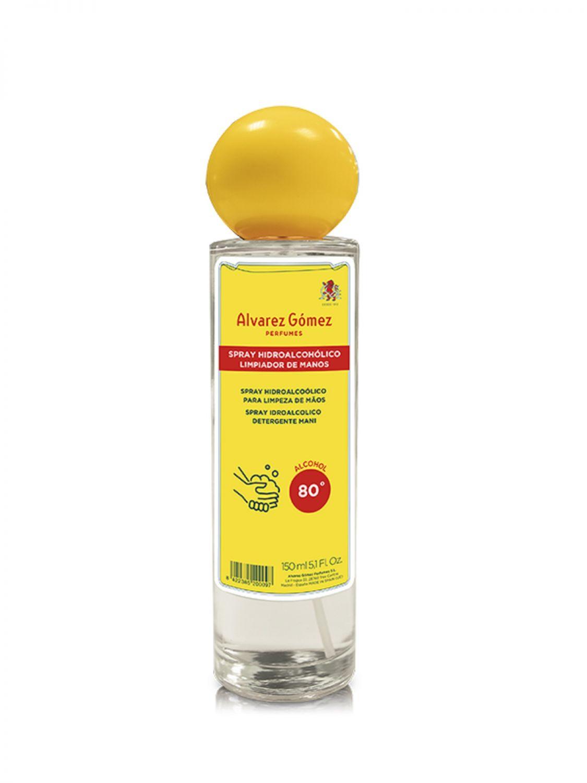 Spray Hidroalcohólico Limpiador de manos  Alvarez Gomez 150 ml. Alcohol 80º