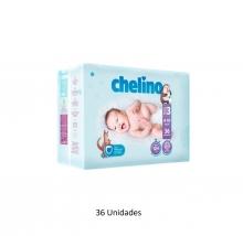36 x Pañales Chelino Talla 3 Desde 4 - 10 Kilos Limpieza Cambio Bebes Niños