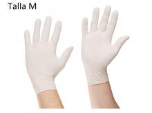100 Guantes de Latex con Polvo Talla M (7-8) Protección Equipamiento Salud Manos
