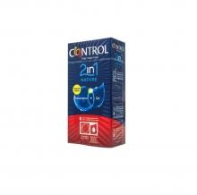 6 x Preservativos Nature + Gel 2en1 Control Sexo Placer Sensibilidad Kit