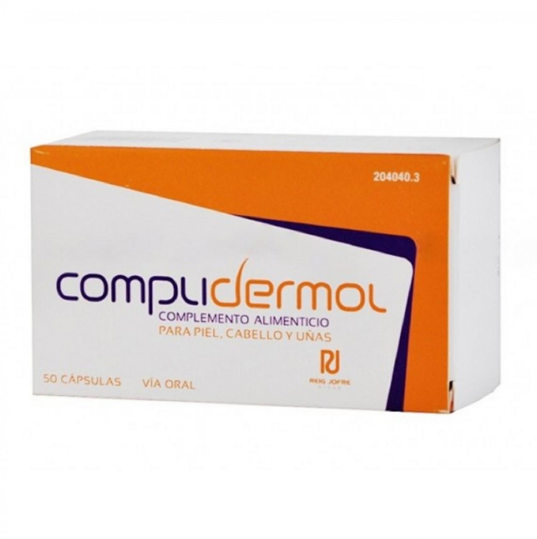 Complidermol 50 Capsulas para Piel Cabello Uñas Salud Belleza Oral Complemento